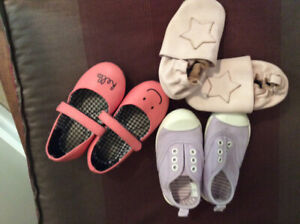 Toddler girl shoes, about size 4-5