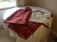 Red Striped Curtains 66 x 72
