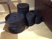 102.5kg of weights + long bar