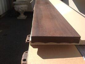 Solid mahogany mantle piece plus smaller pieces