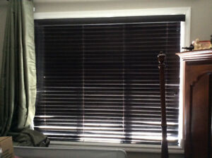 """Real Wood 2"""" Vertical Blinds (large window) & Valance"""