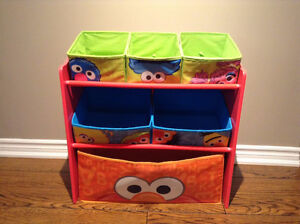 Sesame Street Multi Bin Toy Organizer Shelf Unit