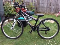 "Girls/ladies 16"" mountain bike used once perfect condition"