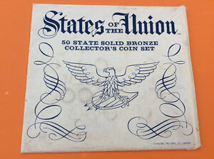 States of the Union coin set - solid bronze collectors set