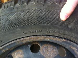 185 65R/14 Hercules Avalanche Snow Tires on Steel Rims x 4 Kitchener / Waterloo Kitchener Area image 2