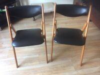 Danish wood retro chairs