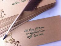 Custom calligraphy, wedding cards and certificates and more