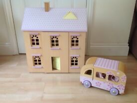 Dolls house , camper van and accessories