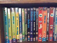 Family guy DVDs.
