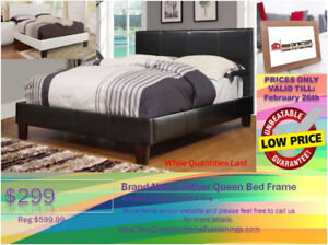 ◆Winter Clearance! Brand New Leather Qn/Db Bed @New Direction
