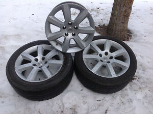 3/4 OEM Nissan 350Z wheels with TPMS