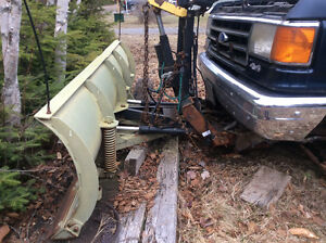 Ford Pickup Truck with plow, back rack