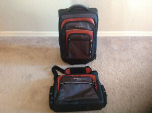 EDDIE BAUER Luggage Suitcase Bag and Carryon Shoulder Bag