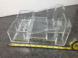 Kaboodles BRAND clear acrylic make up / office supply stand Cambridge Kitchener Area image 2