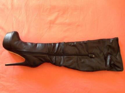 'Livid' High Heel Platform Leather Boots AU Size8 New $140. East Cannington Canning Area Preview