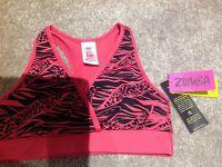 Zumba sports bra brand new size medium with tags