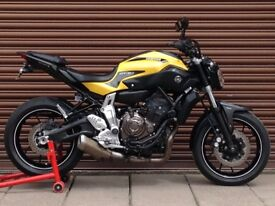 Yamaha MT-07 ABS 2015. Only 8458miles. Delivery Available *Credit & Debit Cards Accepted*