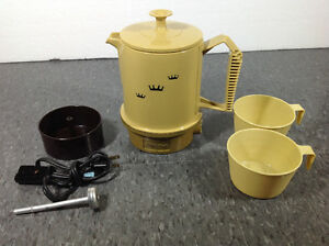Vintage Poly Perk Regal automatic travel percolator