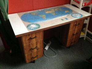 Soviet Era Map Desk