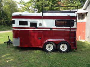 Vintage 1980 Miley Double Horse Trailer - Exceptional Condition