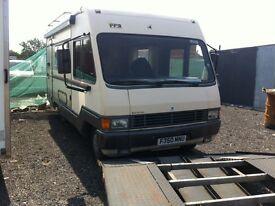 Talbot express 1400 2.5 td 5 berth motor home 1989 f reg