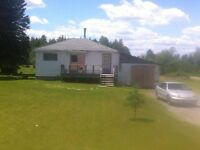 2 bedroom bungalow with 1 bathroom. 4.48 acres included