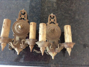 Antique electric wall sconce