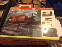 Hornby train set and trains and building etc