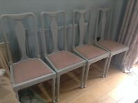 4 dining room chairs - up cycled with Annie Sloan Paris Grey
