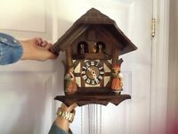 Hand carved wooden cuckoo clock
