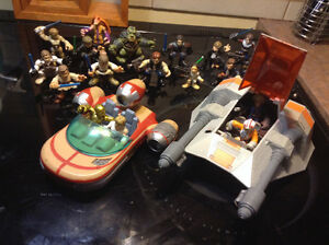 Star Wars lot of Hasbro Galactic Heroes figures and ships