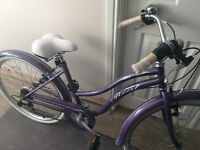 "Real Ververve Womens Ladies Hybrid Bike 16"" Inch Purple Frame 6 Speed Cycling"