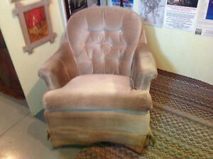 Beige Swivel Rocker $40