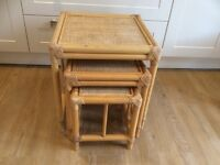 Set of wicker conservatory tables.