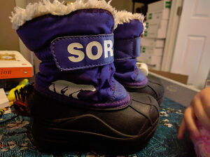 "Sorel ""Snow Commander"" Winter Boots, Girls size 7"
