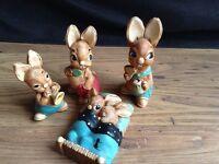 Original vintage pendelfin rabbits pre 70's