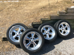 """Rare Ford Dodge Cragar SS Forged Alloy Wheels 17"""" Continental"""