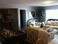 Above ground 2 bedroom basement suite avail anytime