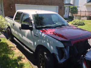 2013 Ford F-150 4x4  DAMAGED club cab 3.5L EcoBoost $11,700