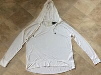Abercrombie and Fitch white ladies hoodie. Medium. Never worn.