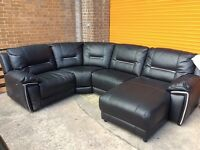 Harvey's hedge more reclining corner sofa leather ex display