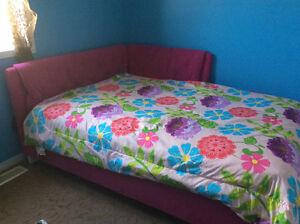 Beautiful pink corner bed with mattress
