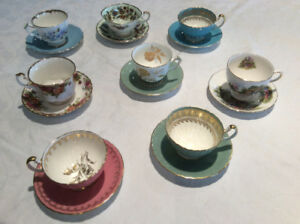 8 Tea Cups and Saucers