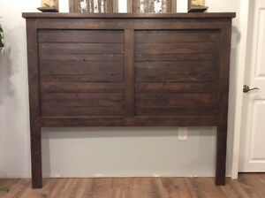 New Hand Crafted Rustic Farmhouse queen size headboard