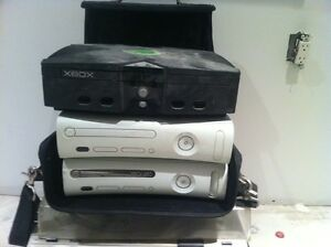 3 xbox consoles,games,controllers,more