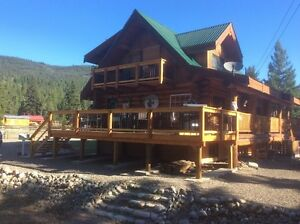 Log Home on 5 Acres, Cleared, Flat, Pastured in Princeton
