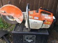 Stihl petrol grinder and cutting saw