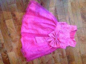 Robe rose chic - 5 ans