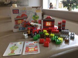 Mega Bloks Junior Builders ages 2-5, Fire Station Rescue. Pre-school
