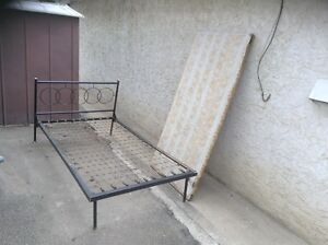 steel bed with board $20 or best offer